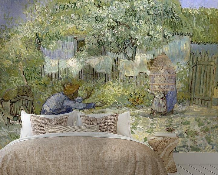 Beispiel fototapete: Die ersten Schritte, nach Millet, Vincent van Gogh, 1890