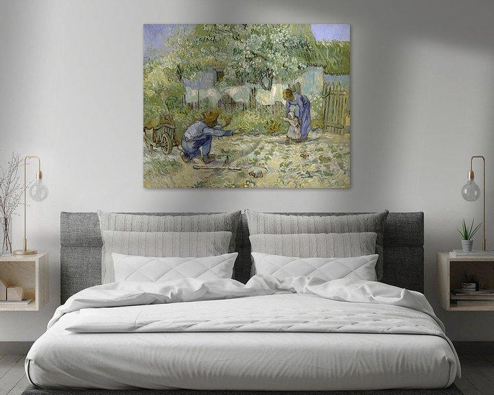 Beispiel: Die ersten Schritte, nach Millet, Vincent van Gogh, 1890