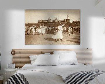 Tanzen am Strand in Zandvoort, Knackstedt & Näther, 1900 - 1905