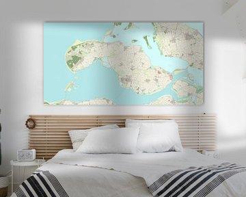Kaart vanSchouwen-Duiveland