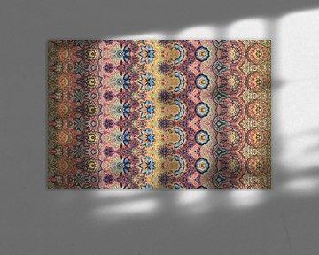 fond géométrique abstrait et coloré avec des éléments artistiques comme le coup de pinceau et la tex