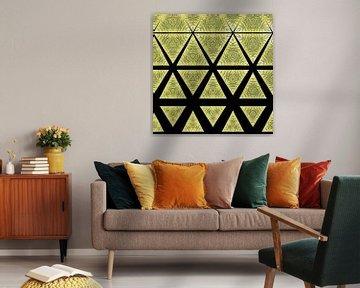 un fond géométrique abstrait et coloré