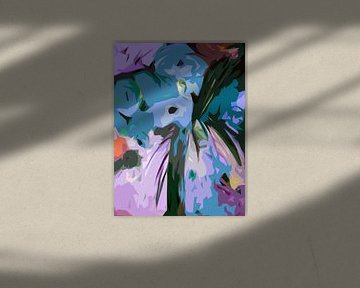 Blaue Blumen von Angel Estevez