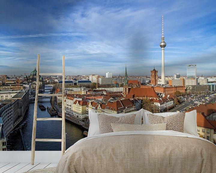 Beispiel fototapete: Skyline Berlin von Heiko Lehmann