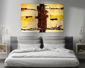 Struckturbild schwarz gelb rot von Klaus Heidecker