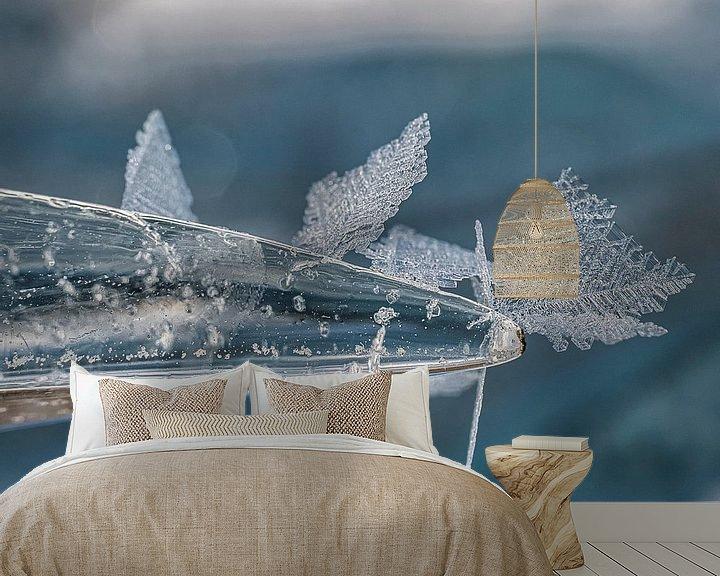 Sfeerimpressie behang: IJs kristallen van Joanne de Graaff