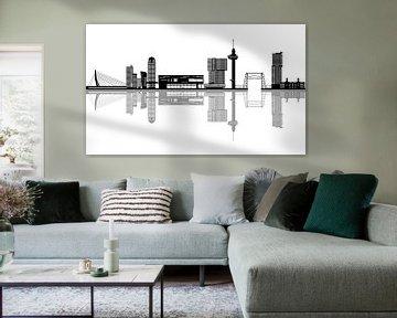 skyline van rotterdam van ChrisWillemsen