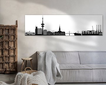 die skyline der deutschen stadt hamburg mit dem fernsehturm und der architektur von Compuinfoto .