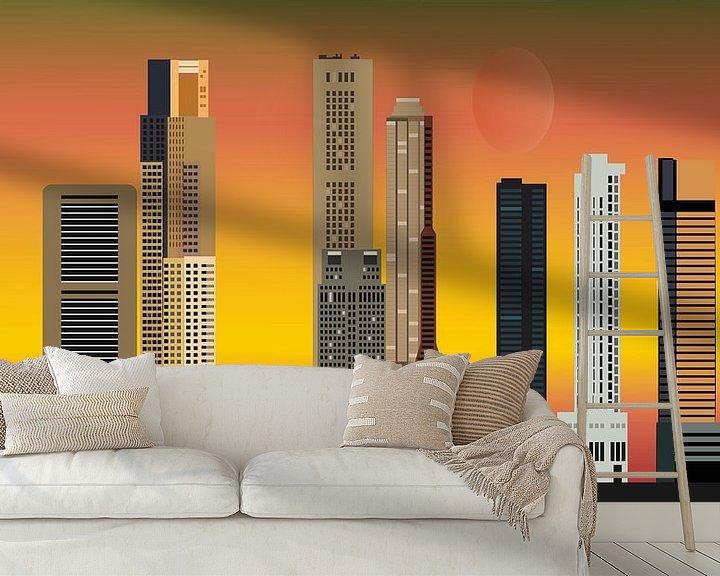 Beispiel fototapete: skyline singapur-stadt in asien mit hochhäusern und hotels von Compuinfoto .