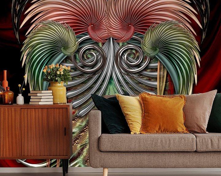 Sfeerimpressie behang: Ram - Aries van Helma Tielemans