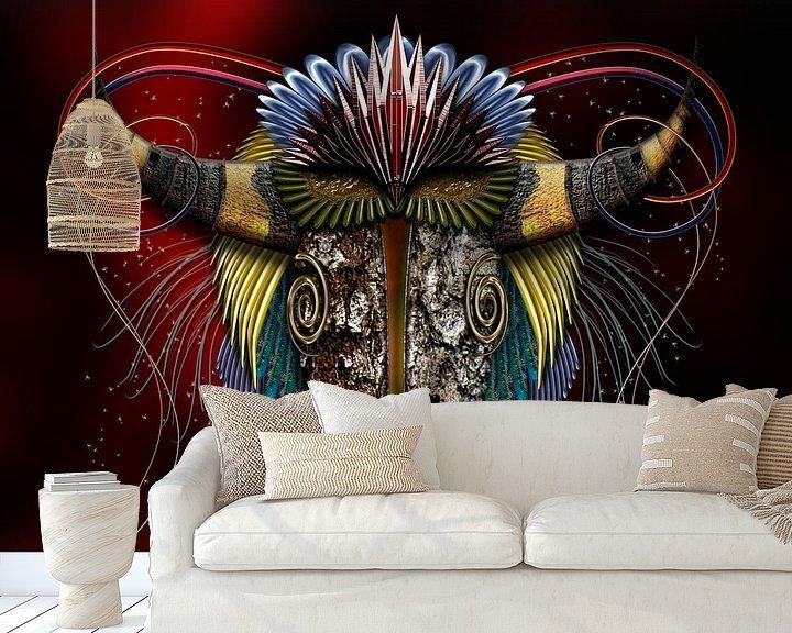 Sfeerimpressie behang: Stier - Taurus van Helma Tielemans