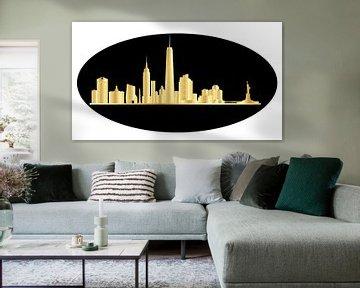 new york skyline van de stad