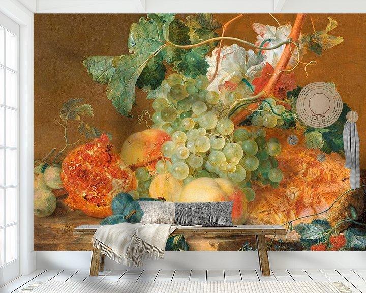 Beispiel fototapete: Stilleben mit Früchten, Jan van Huysum