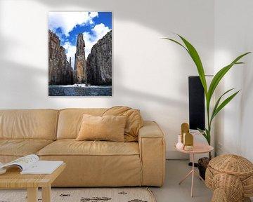 """Candlestick & Totempole"" in Cape Huay Tasman National Park van Ryan FKJ"