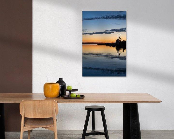 Sfeerimpressie: Zonsondergang Lauwersmeer van Irene Damminga
