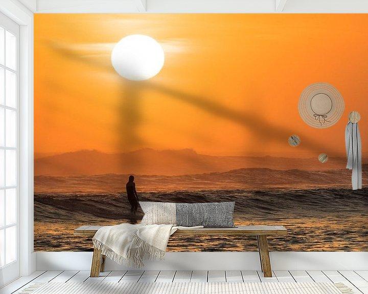 Sfeerimpressie behang: Gracious surfing van Jonathan Krijgsman