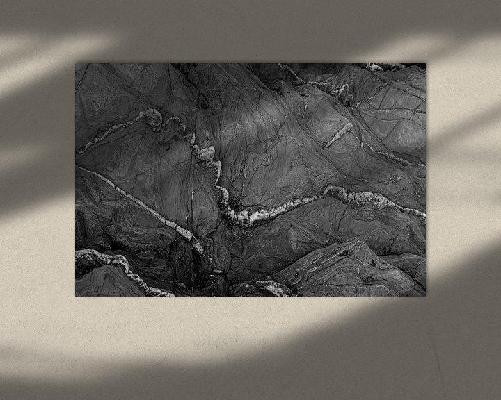 Sfeerimpressie: abstract in zwart wit van Anneke Hooijer
