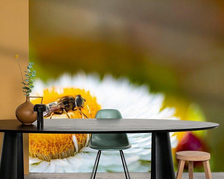Impression: Fleur avec le papillon. sur Anneke Hooijer