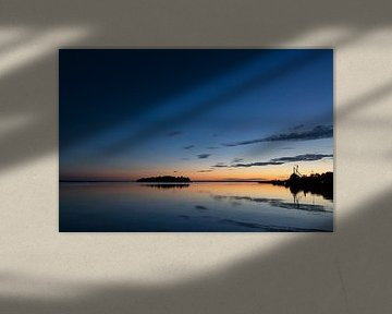 Zonsondergang Lauwersmeer van Irene Damminga