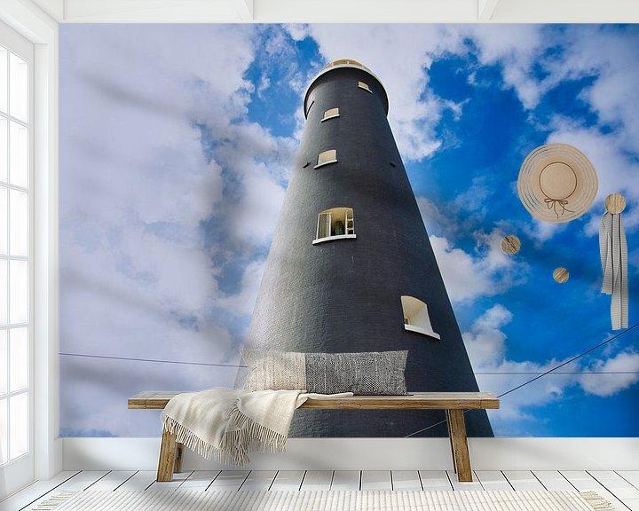 Sfeerimpressie behang: Vuurtoren van Anneke Hooijer