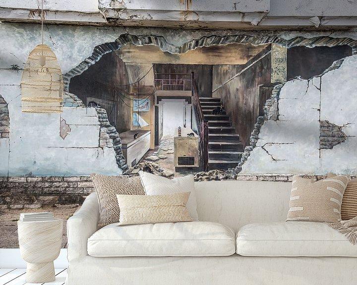 Sfeerimpressie behang: Graffiti van Anneke Hooijer