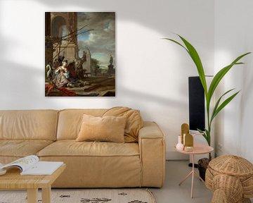 Ein italienischer Innenhof, Jan Weenix