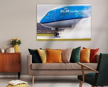 KLM Boeing 787 Thrust Reverse!