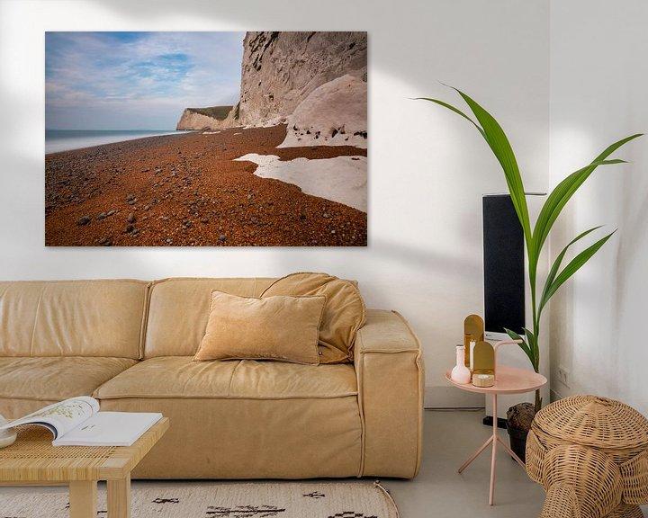 Sfeerimpressie: Krijtsteen aan de kust van Zuid West Engeland van Anneke Hooijer