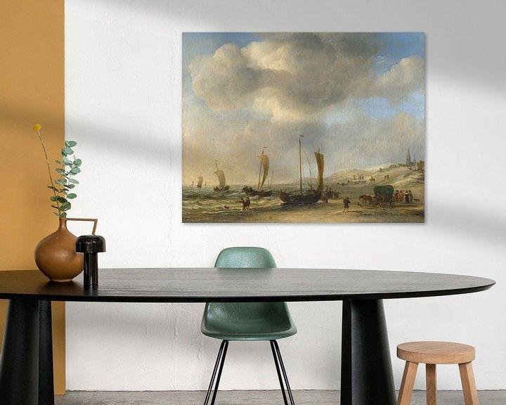 Beispiel: Das Ufer bei Scheveningen, Willem van de Velde