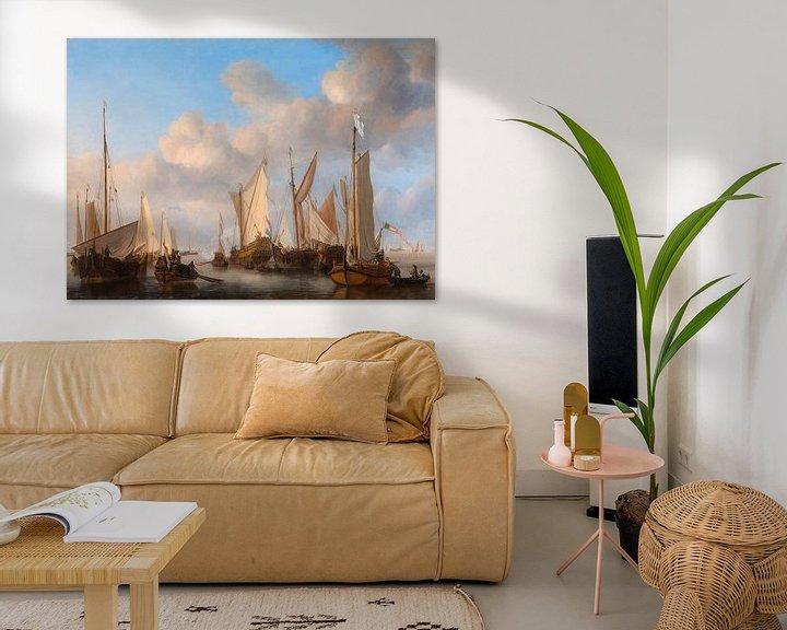 Beispiel: Eine niederländische Yacht salutiert, Willem van de Velde