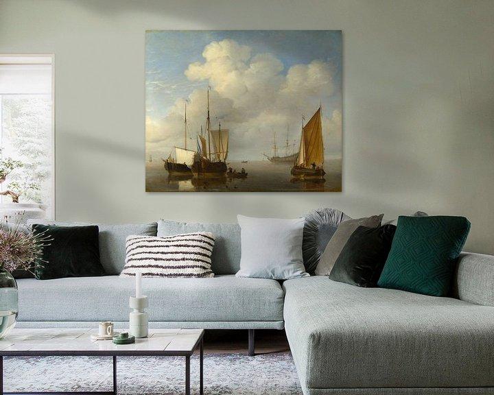 Beispiel: Niederländische Schiffe in der Ruhe, Willem van de Velde