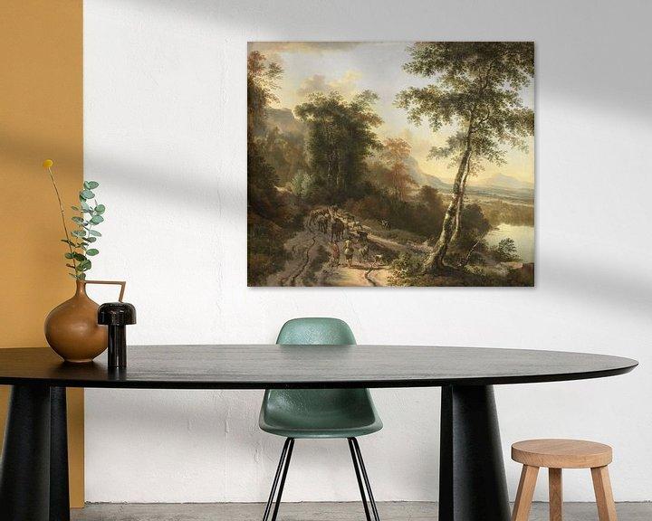 Beispiel: Landschaft mit Viehzüchtern, Jan Hackaert
