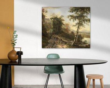 Landschaft mit Viehzüchtern, Jan Hackaert