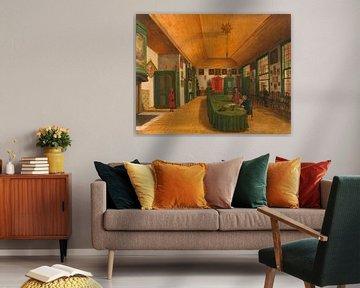 Der Saal einer Künstlergesellschaft in Leiden, Paulus Constantijn la Fargue