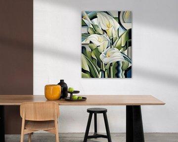 Cubist Lilies von Catherine Abel