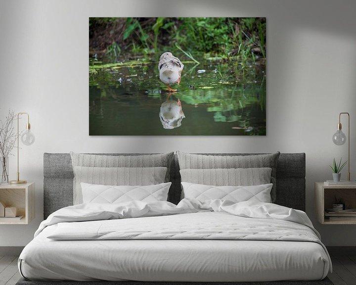 Sfeerimpressie: Bird on water van Bram de Muijnck