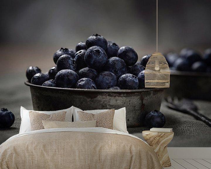 Sfeerimpressie behang: Blueberries van Anoeska van Slegtenhorst