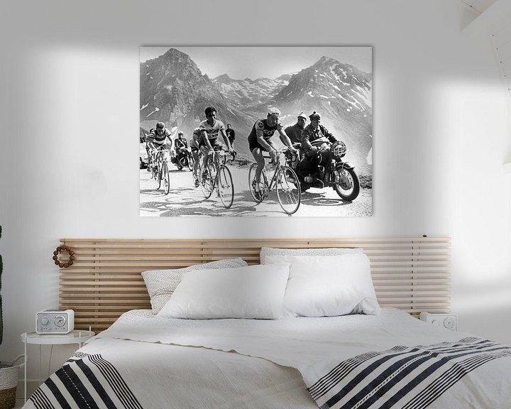 Sfeerimpressie: Tour de France 1963: Anquetil, Bahamontes en Poulidor van Bridgeman Images