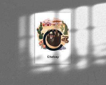 Namensplakat Chelsey von Hannahland .