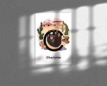 Naamposter Charlotte van Hannahland .