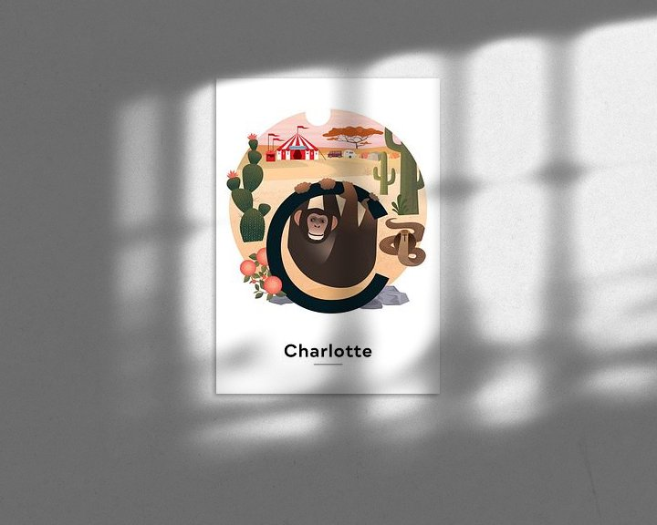 Beispiel: Namensplakat Charlotte von Hannahland .