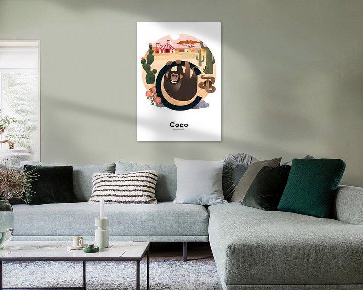 Beispiel: Coco-Namensplakat von Hannahland .