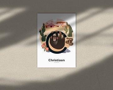 Plakat mit Vornamen von Hannahland .