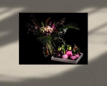 Schöner Blumenstrauß mit Blumenzwiebeln