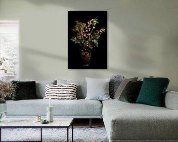 Herbstliches Bouquet im Topf