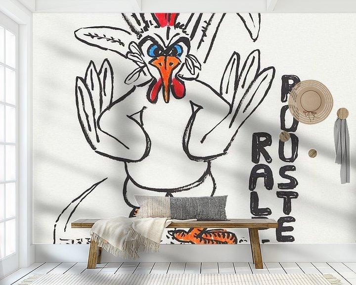 Beispiel fototapete: Neues vom Hühnerhof - Ralph Rooster von Wieland Teixeira