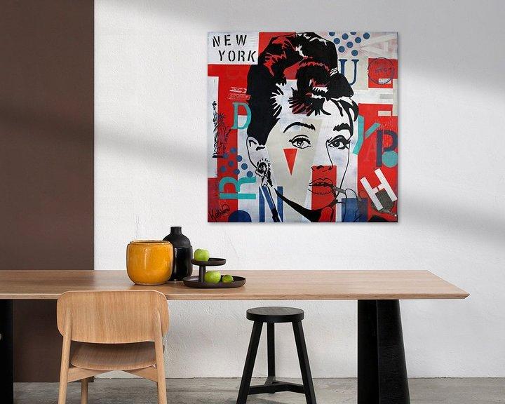 Beispiel: Audrey Hepburn NYC von Kathleen Artist Fine Art