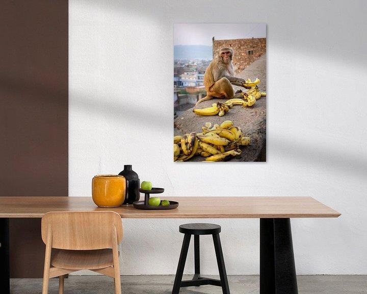 Beispiel: Affe beim Mittagessen von Juul van Wandelen