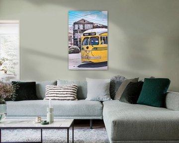Historische tram in San Francisco, Amerika van Daphne Groeneveld