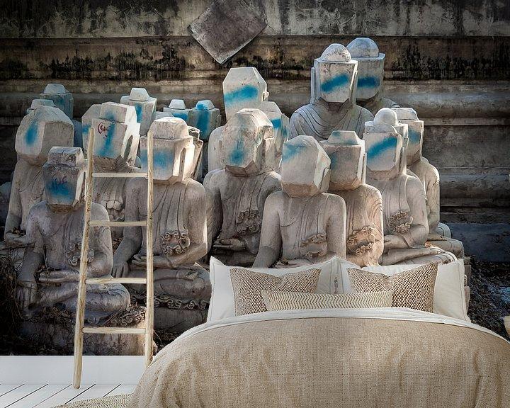 Sfeerimpressie behang: Myanmar - Mandalay - Anonimiteit van Rik Pijnenburg